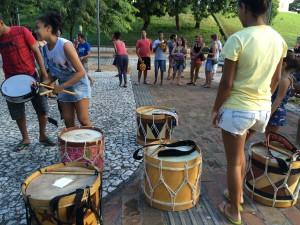 Maracatú practice in Olinda