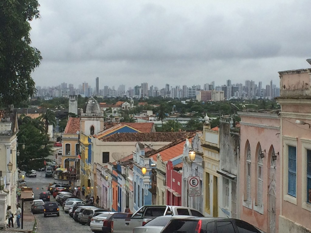 Olinda with Recife skyline